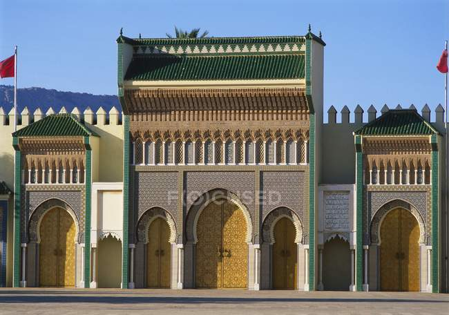 Vista del Palazzo reale di Fes — Foto stock