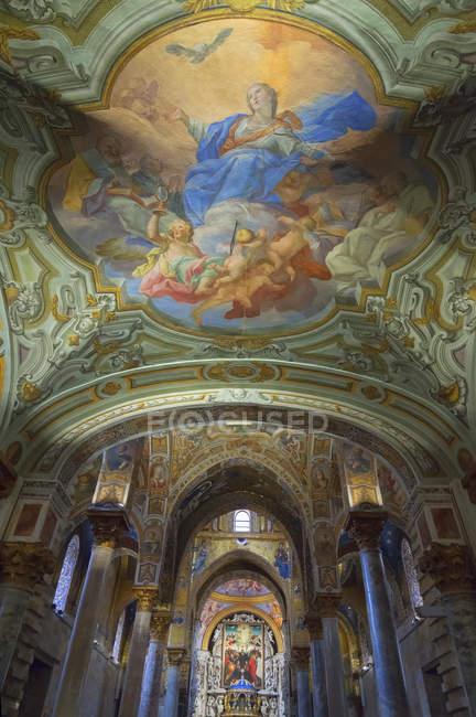 Interior de La iglesia de la Martorana - foto de stock