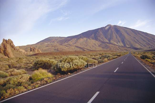 View from road on Mount Teide — Stock Photo