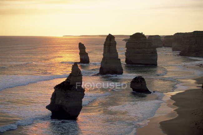 Formations rocheuses des douze apôtres — Photo de stock