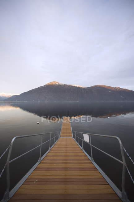 Вид на озеро Маджоре — стокове фото
