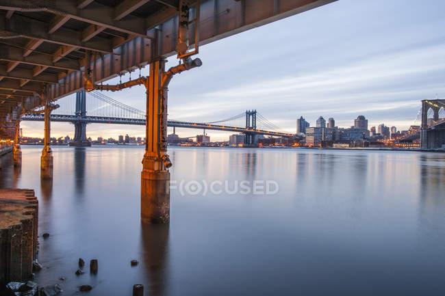 Vista da ponte de manhattan — Fotografia de Stock