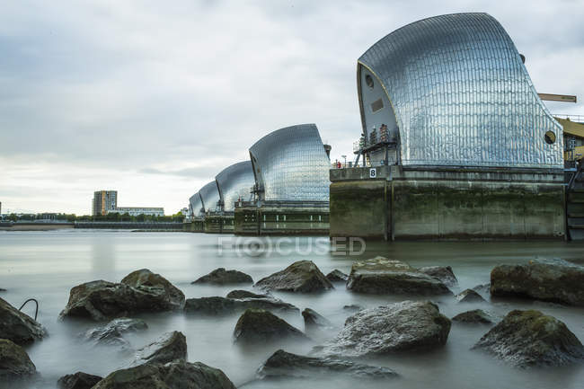 Observing view of Thames Barrier — Stock Photo