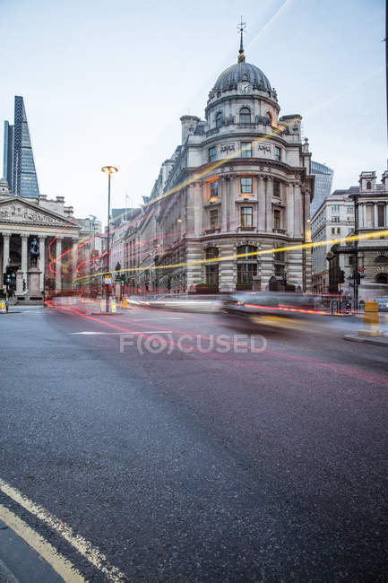 Observing view of London street — Stock Photo