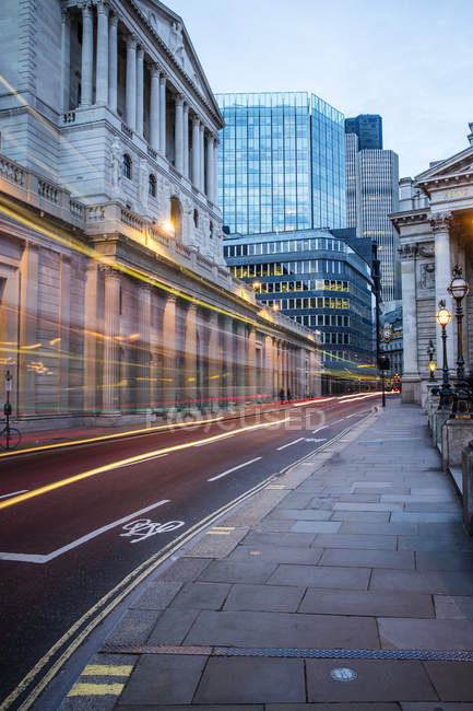 Observing view of Bank of England — Stock Photo