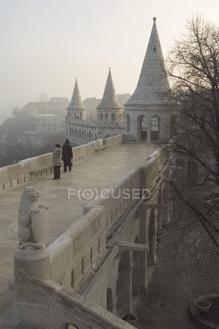 Fishermans Bastion at Castle Hill area — Stock Photo