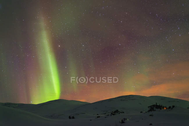 Northern Lights on Kings Trail — Stock Photo
