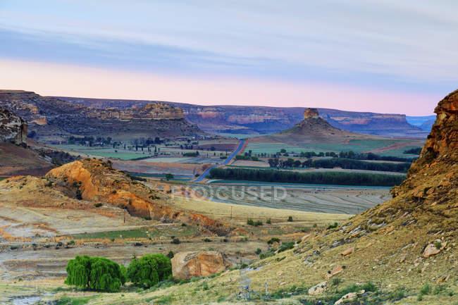 Ansicht der Drakensburg mountains — Stockfoto
