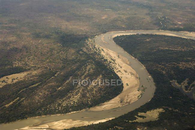 Luftaufnahme des Luangwa Flusses — Stockfoto