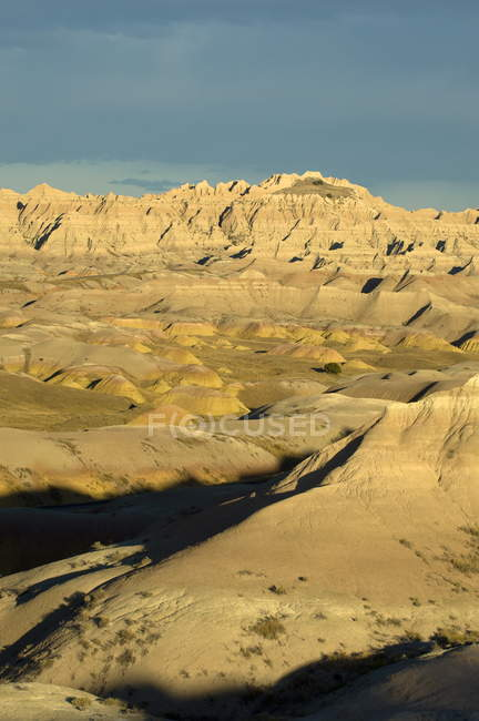Vue aérienne du Parc National de Badlands — Photo de stock
