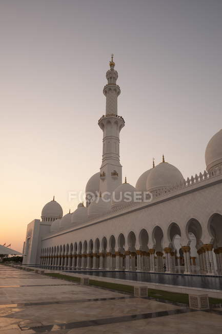 Sheikh zayed grote moskee - foto de stock