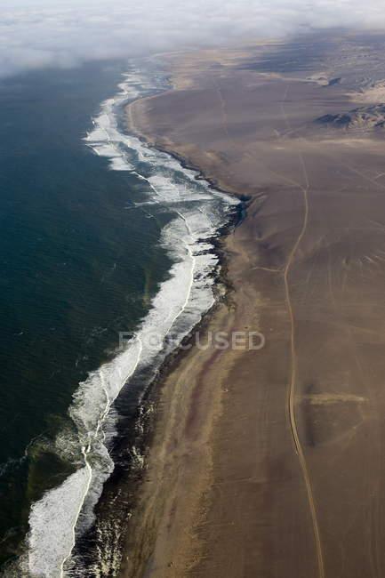 Аэрофотоснимок побережья Атлантического океана — стоковое фото