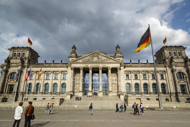 Blick auf den Reichstag zu beobachten — Stockfoto