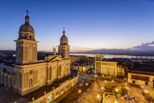 Cattedrale a Parque Cespedes, Cuba — Foto stock