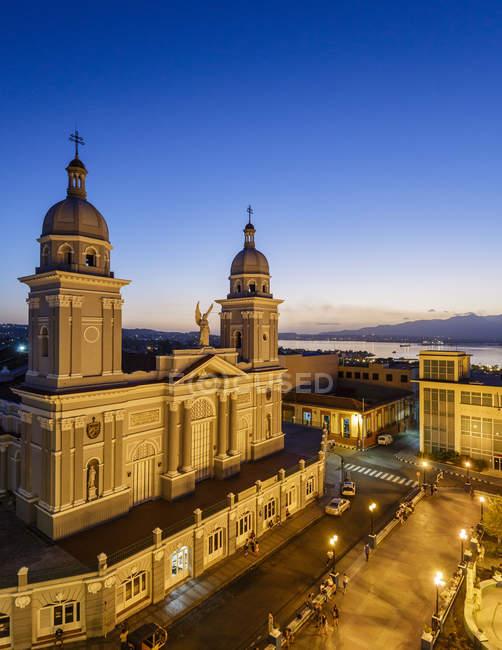 Nuestra Senora de la Asuncion Cathedral at Parque Cespedes — Foto stock