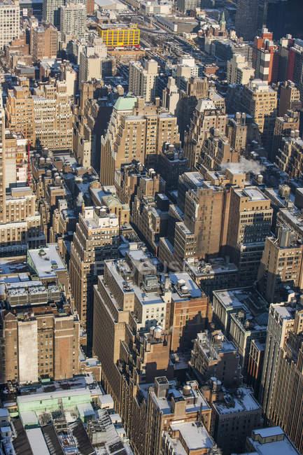 Vista aérea de manhattan — Fotografia de Stock
