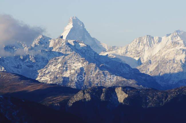 Matterhorn viewed from Fiescheralp — Stock Photo