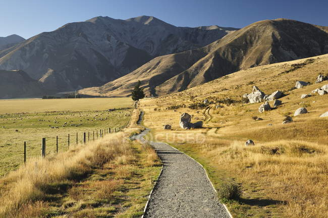 Castle Hill at Canterbury high country — Stock Photo
