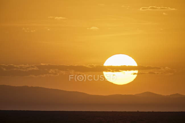 Sunrise at Serengeti National Park, — Stock Photo
