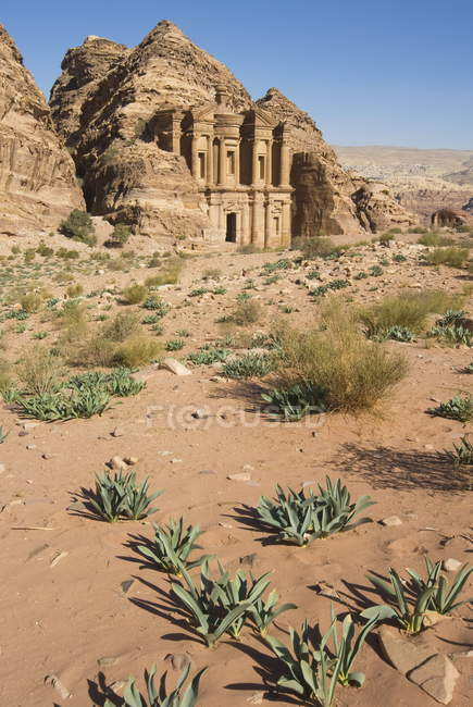View of Monastery at Petra — Stock Photo