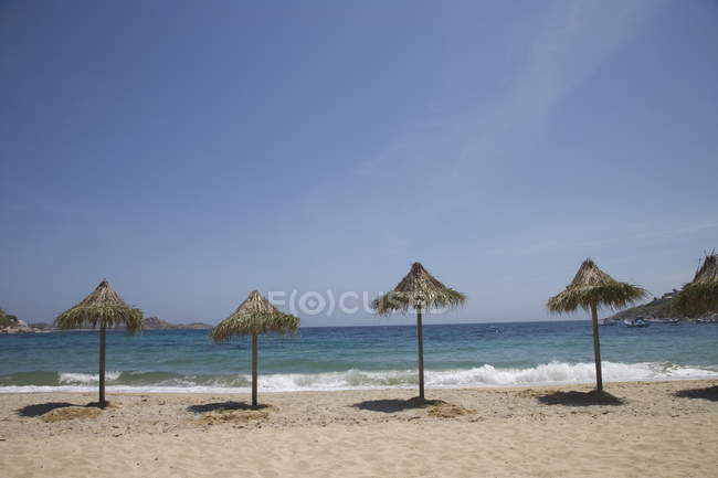 Beach of Psaurous, Mykonos — Stock Photo