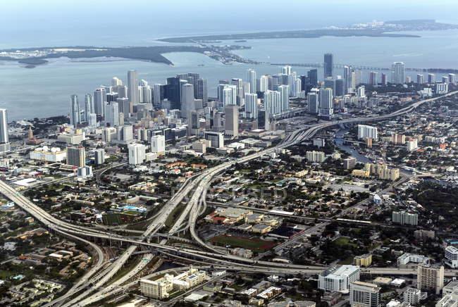 Vue aérienne de miami — Photo de stock