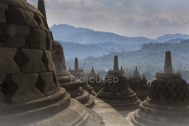 Observing view of Borobudur Buddhist Temple — Stock Photo
