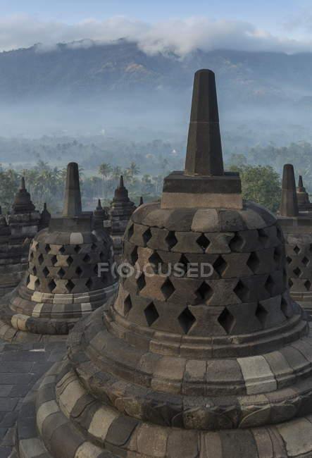 Buddhistische Tempelanlage Borobudur — Stockfoto