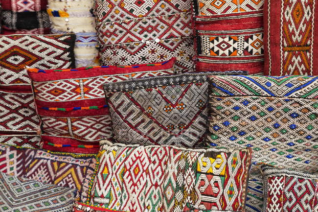 Moroccan cushions for sale — Stock Photo