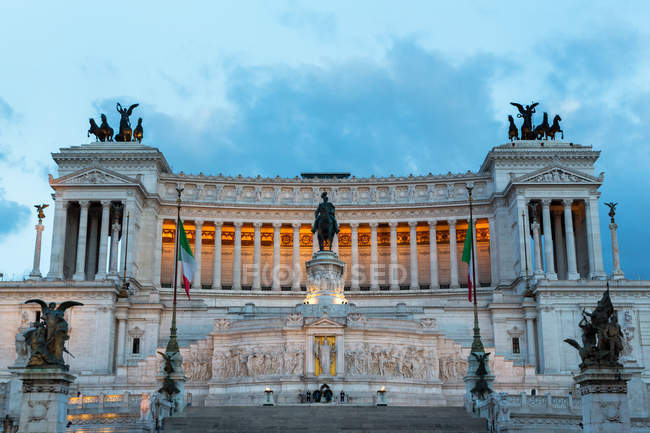 Victor Emmanuel Monument, Rome — Stock Photo