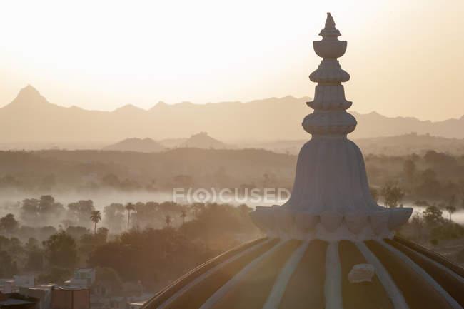 Dôme de Deogarh Mahal Palace hotel — Photo de stock
