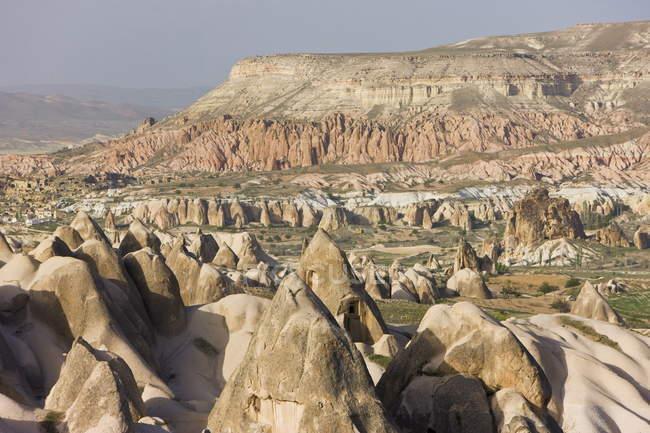 Volcanic tufa rock formations — Stock Photo