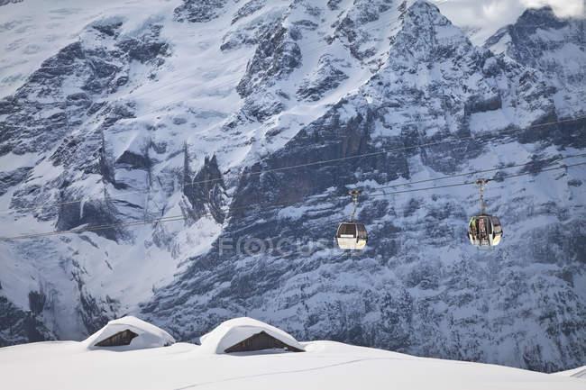 Kabel-Straße auf Wetterhorn Berg — Stockfoto