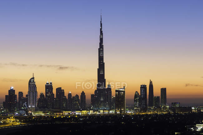 Новый горизонт Дубая — стоковое фото