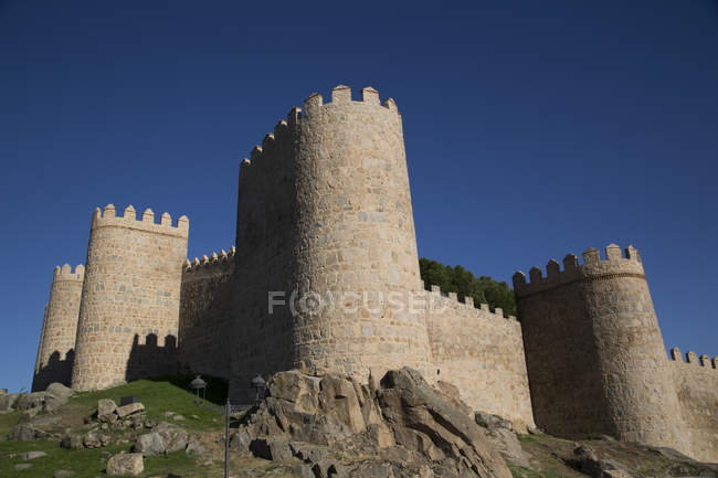 View of City Wall at Avila — Stock Photo