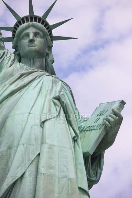 Primo piano della statua della libertà — Foto stock