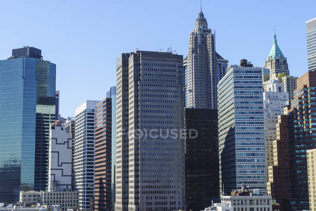 Modern skyscrapers in Lower Manhattan — Stock Photo