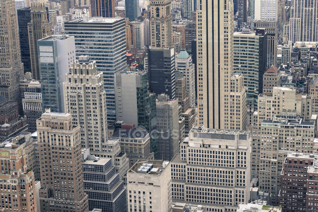Aerial view of Manhattan skyscrapers — Stock Photo