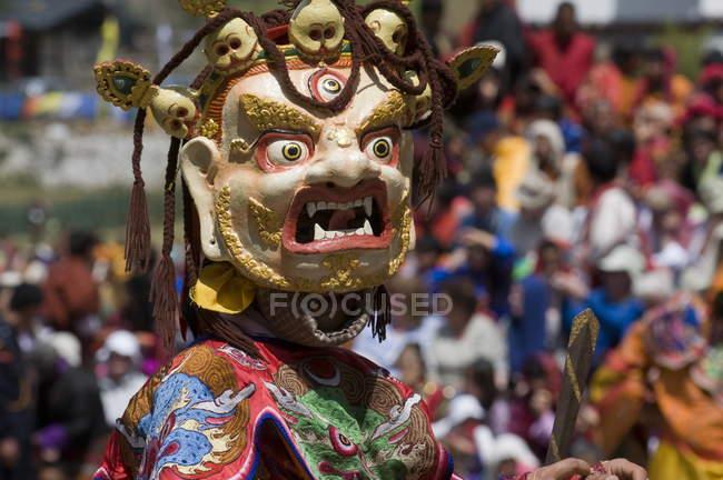 Maskierte Tänzer bei religiöses Fest — Stockfoto