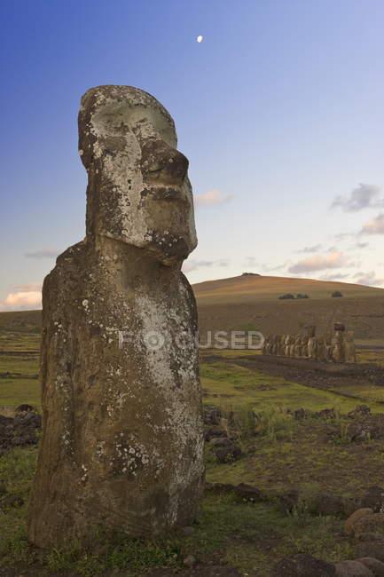 Monolithische riesigen Stein Moai — Stockfoto