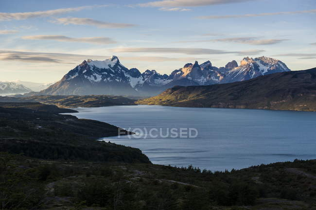 Glacial lakes near Torres del Paine — Stock Photo