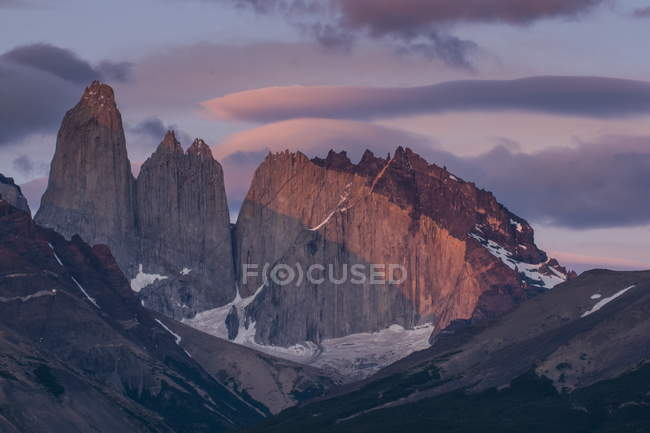 Moutains in Torres del Paine National Park — Stock Photo