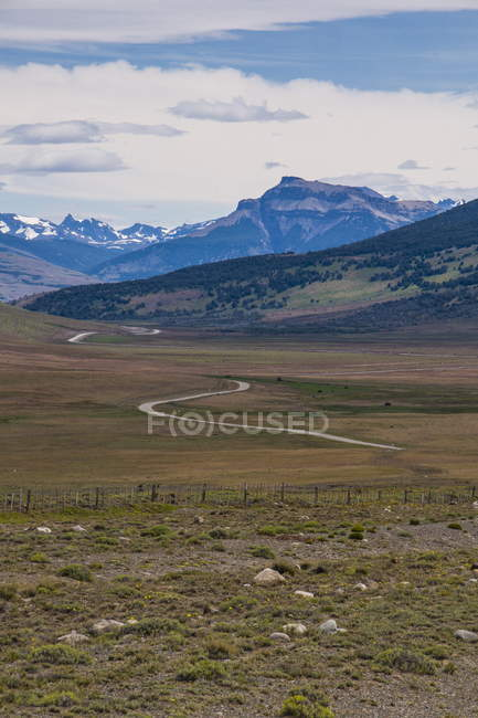Road leading to Torres del Paine National Park — Stock Photo