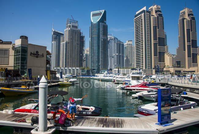 Dubai Marina, Dubai — Fotografia de Stock