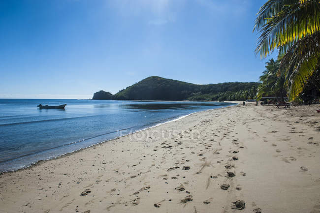 Spiaggia di sabbia bianca — Foto stock