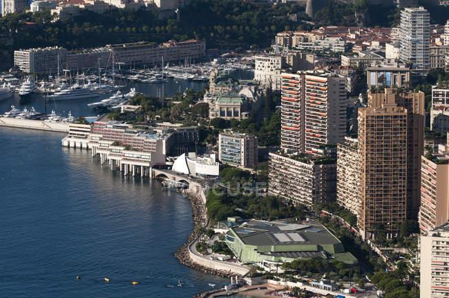 Vista aerea della costa di Monte Carlo — Foto stock