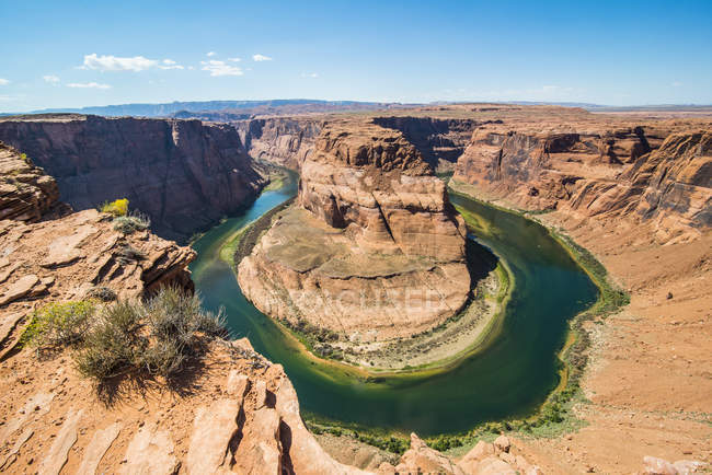 Horseshoe Bend sur la rivière Colorado au South Rim — Photo de stock