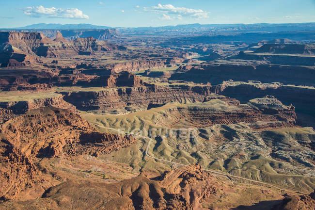 Vista sobre canyonlands e Rio Colorado — Fotografia de Stock