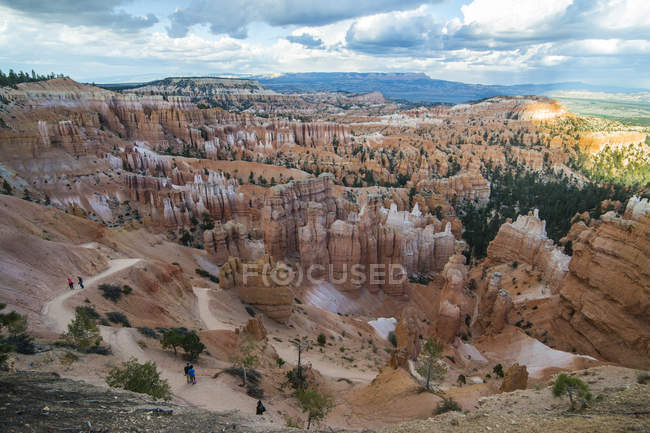 Formations de grès du Parc National de Bryce Canyon — Photo de stock