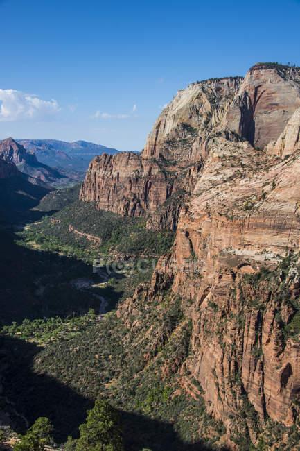 Blick über den Zion National Park — Stockfoto